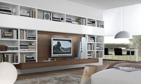 Wall Units with book shelves