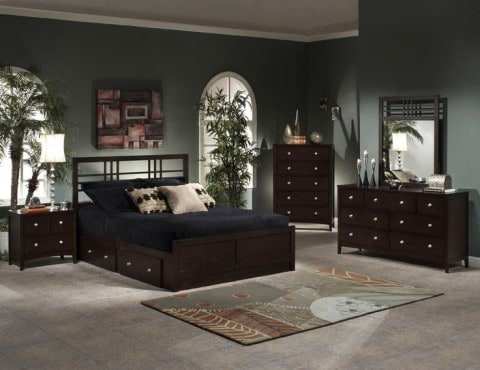 semi classical Bedroom Set with Storage