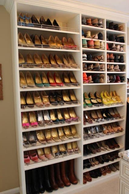 Shoe Storage for wide room