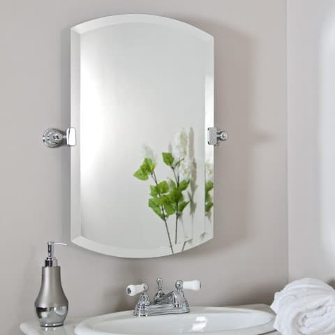bathroom mirrors without frame