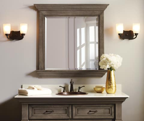 classical bathroom mirrors design