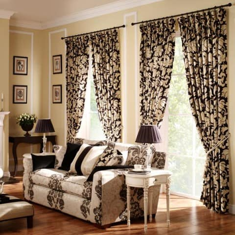 flower Living Room Curtains