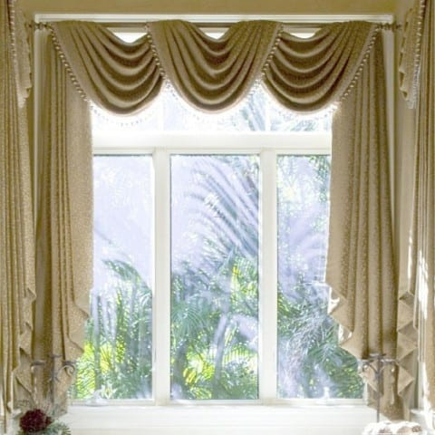 golden brown Living Room Curtains