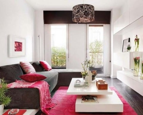 colorful apartment living room design
