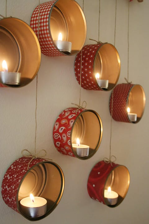 DIY Christmas Decor from biscuit can
