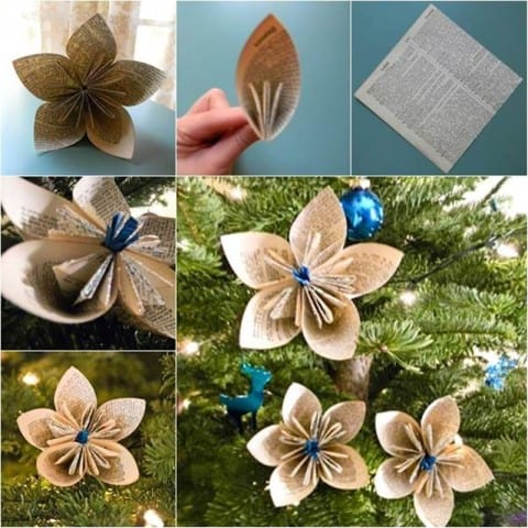 DIY Christmas Decor from reuse paper