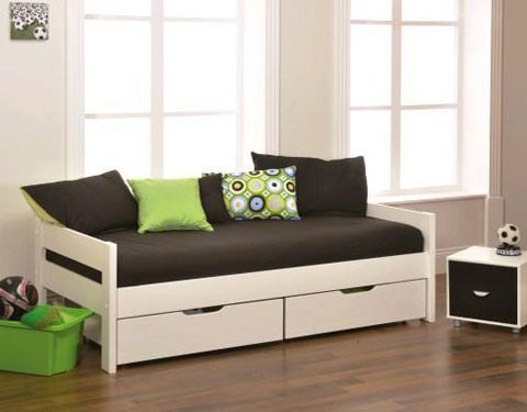 black and white daybed frame mattress