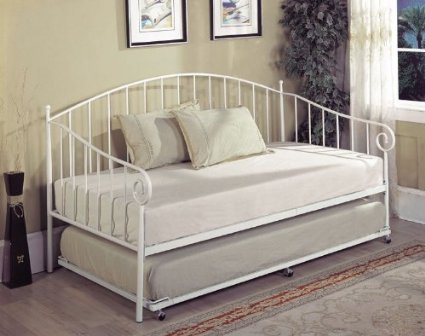 off white daybed frame theme