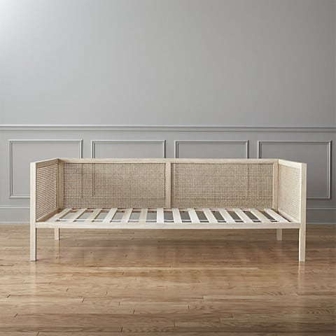 rubberwood daybed frame with rattan panels
