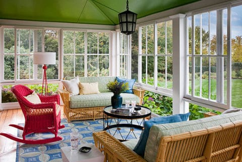 best combination of rattan furniture at sunroom