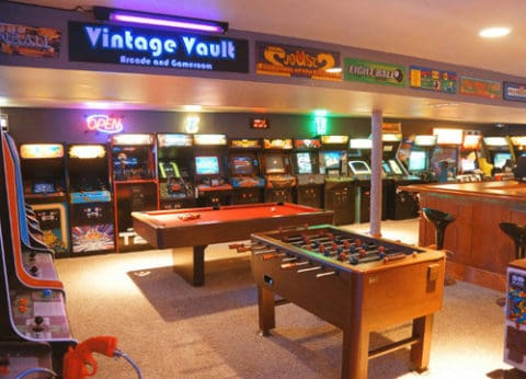 game room with vintage touch