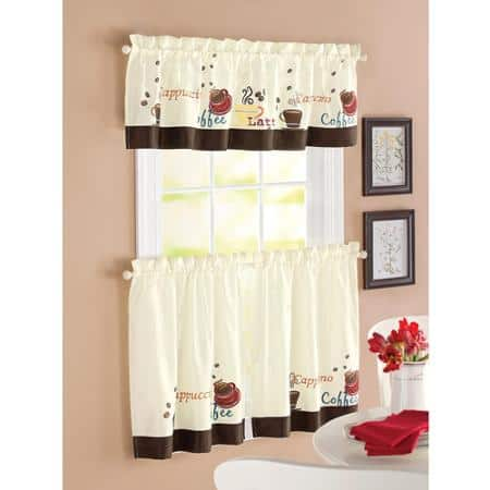 kitchen curtains with cute motif