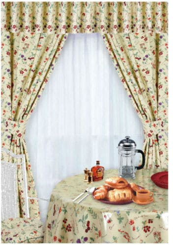kitchen curtains with matching table cloth