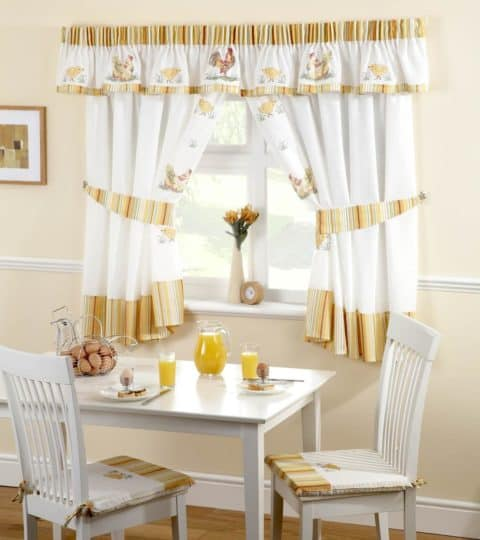 kitchen curtains with pastel color