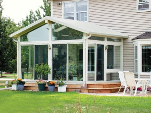 sunroom ideas with perfect glass wall