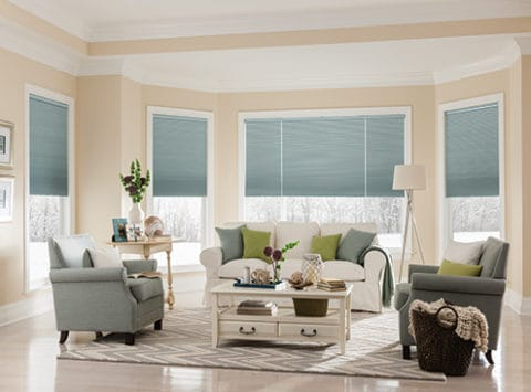 Cellular Shades in light grey color