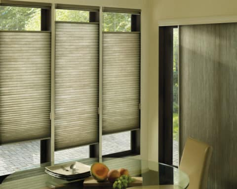 Cellular Shades with rustic style