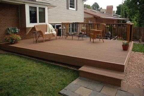 deck patio with wood material