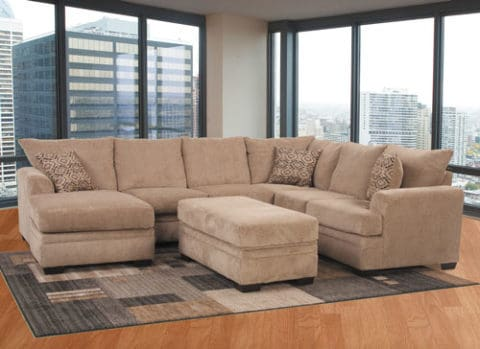 sectional-sofas-with-velvet-material