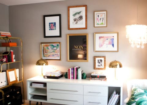 Gallery wall for girls bedroom