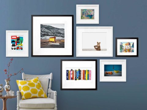 Black and white gallery wall frame