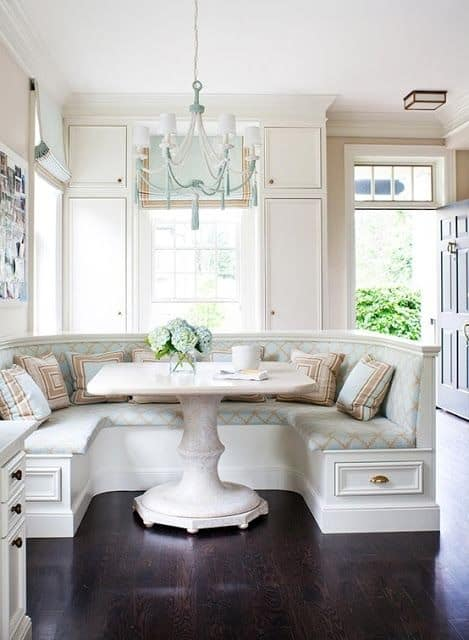 Breakfast nook for classical home concept