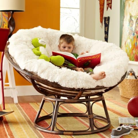 Comfortable papasan chair cover