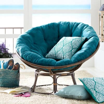 Fresh blue papasan chair