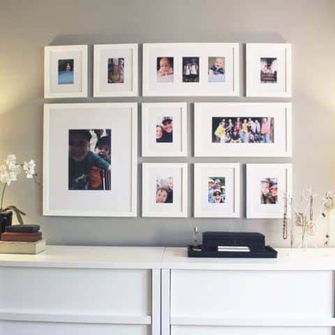 Off white gallery wall ideas