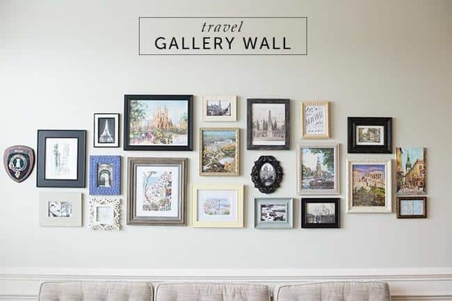 Travel gallery wall ideas