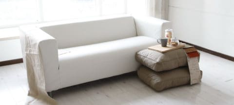 White leather couch covers