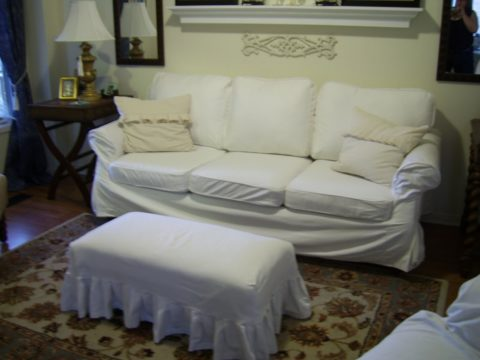 White leather couch covers for sofa set