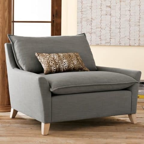 Chair and a half with comfortable seat pad