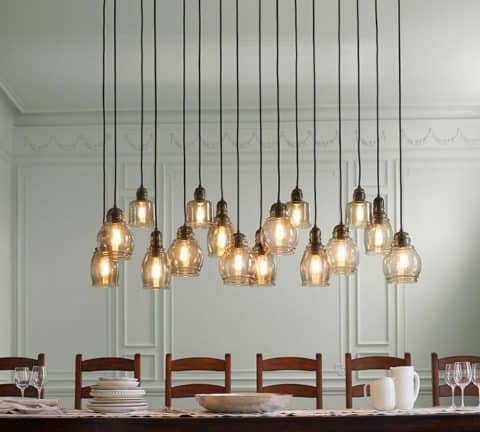 Pendant lighting for retro style