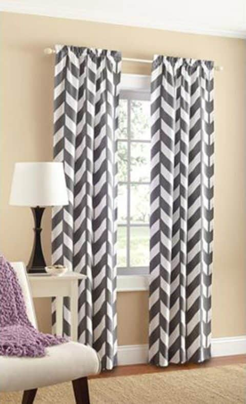 Chevron curtain panels for contemporary home