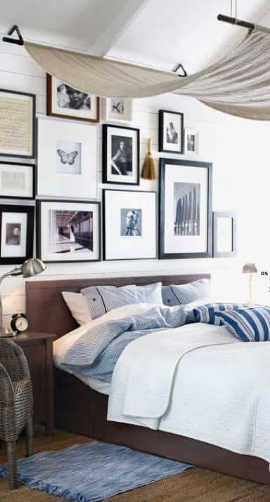 Wall picture frames for bedroom for vintage room