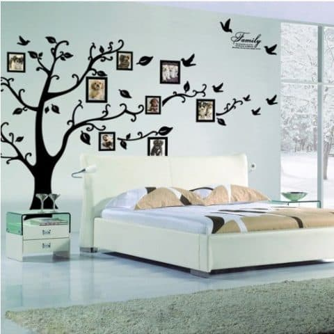 Wall picture frames for bedroom with nature theme