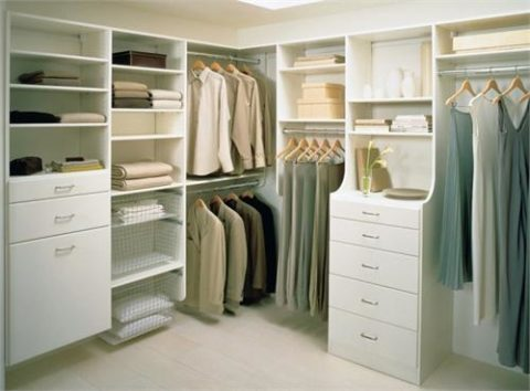 California closets with corner style