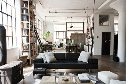 Industrial interior design in new york style