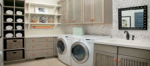 Laundry room with comfortable concept
