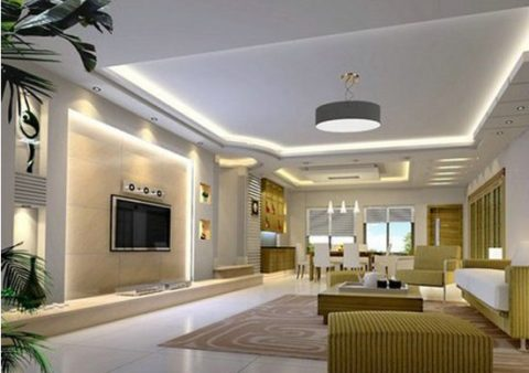 Living room ceiling lighting with round style
