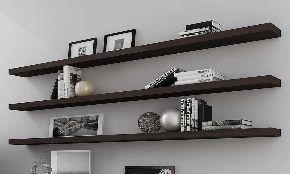 Minimalist floating shelves idea