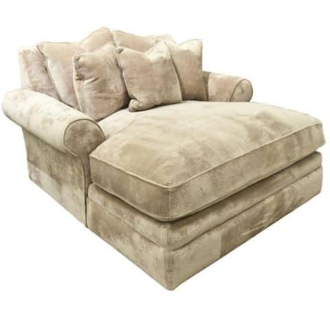 Cuddle chair with velvet material