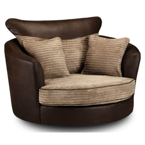 Leather cuddle chair material