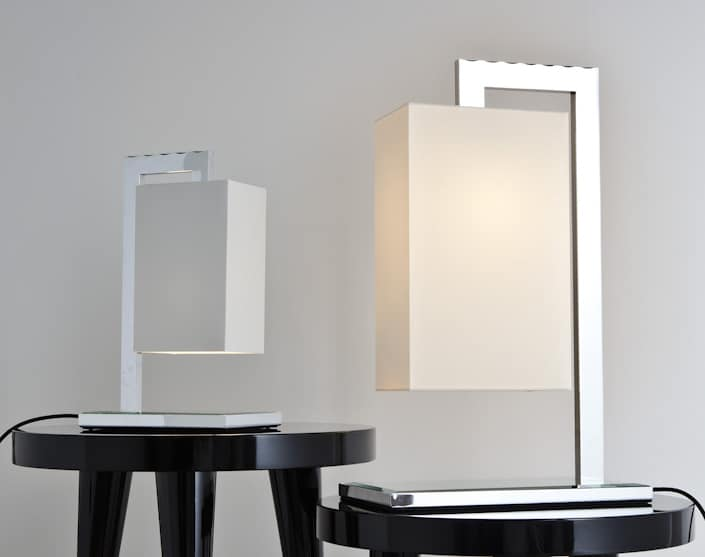 Contemporary floor and table lamps