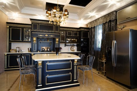 Classical black cabinetry ideas