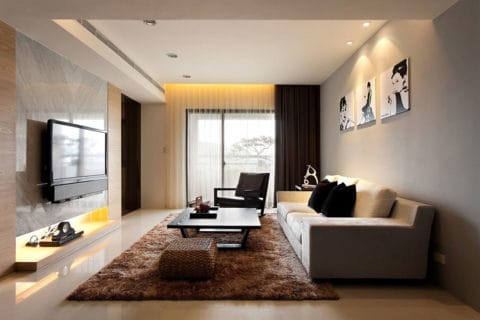 Modern living room design and interior
