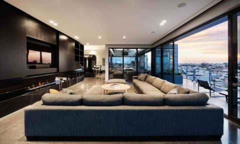 Modern living room for wide area