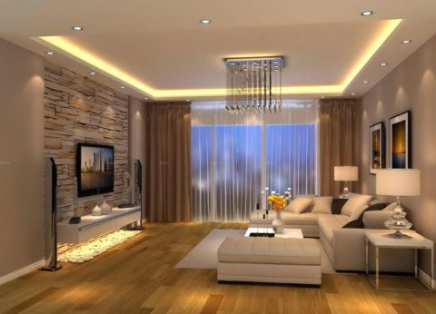 Modern living room in natural touch