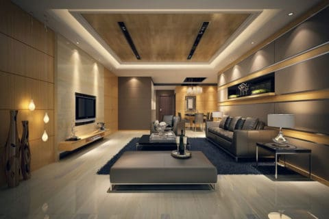 Modern living room with natural schemes